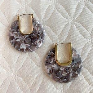 Grey marble earrings